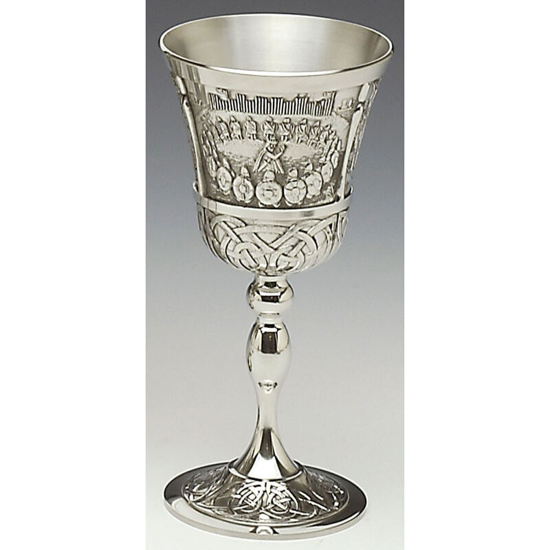 Mullingar Pewter Mythical Goblet With Brian Boru Scenes
