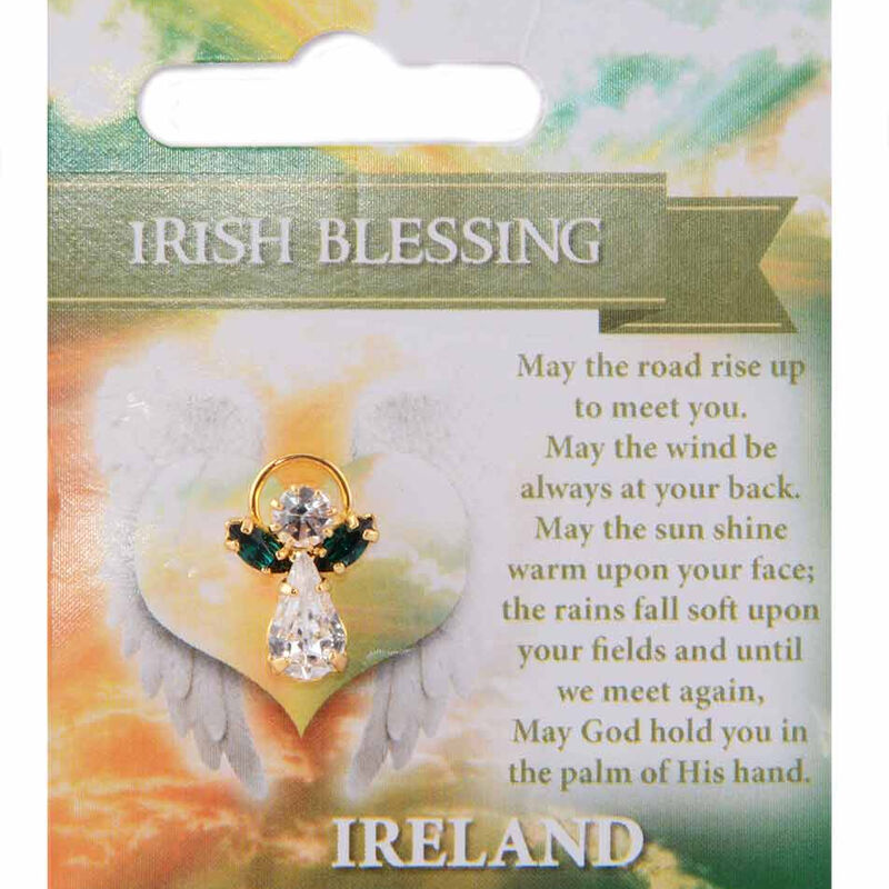 Guardian Angel Pin With Irish Blessing