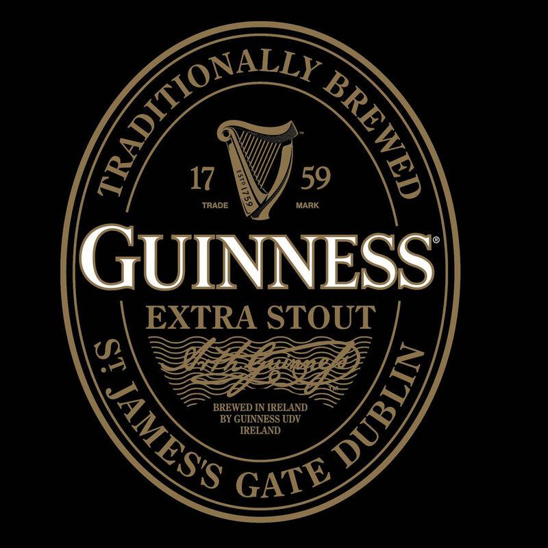 Guinness Damen T-Shirt Label in Gold