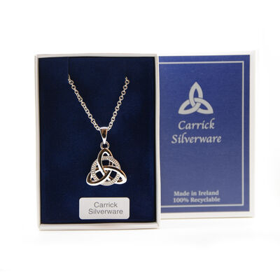 Silver Plated Carrick Silverware Celtic Knot And Celtic Pendant