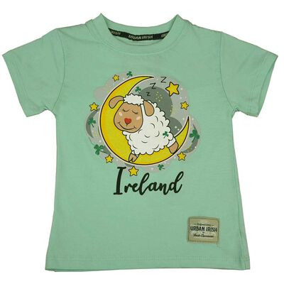 Kids Ireland Sleeping Sheep T-Shirt  Mist Green
