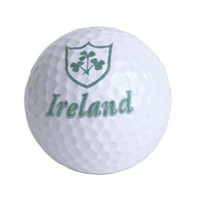 """Lose Golfbälle mit irischem Design mit Kleeblattzweig-Design und Text """"Ireland"""""""
