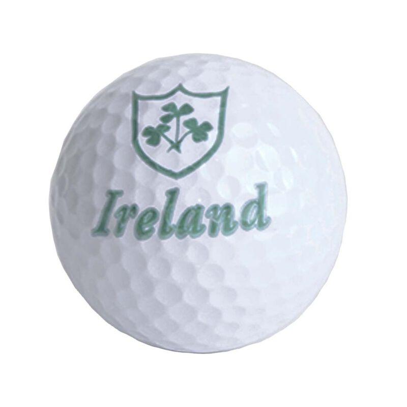 Irish Designed Loose Golf Ball With Sprig Shamrock Design And Ireland Text