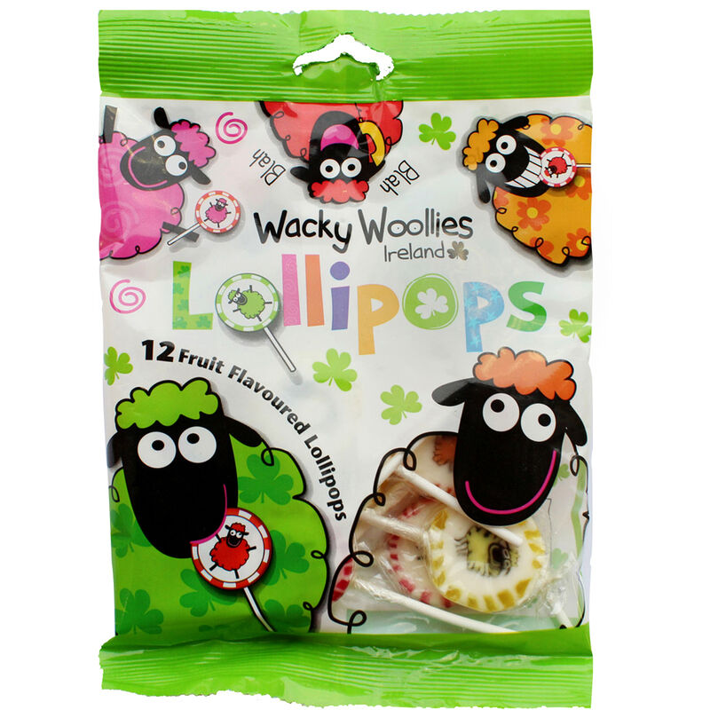 Wacky Woollies 12 Per Pack Various Fruit Flavoured Lollipops