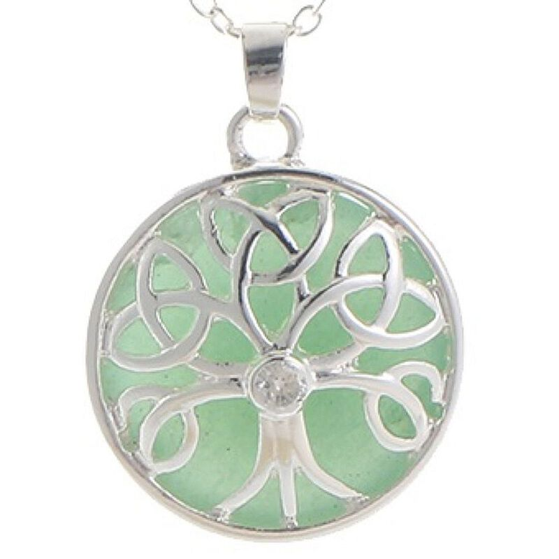 Mystic Ireland Jade Semi Precious Stone Celtic Energy Pendant