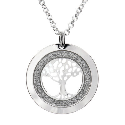 Silver Plated Carrick Silverware Celtic Tree of Life Necklace