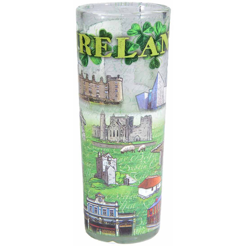 Irish Designed Shooter with Images of Temple Bar  Cliffs of Moher  Dublin Castle