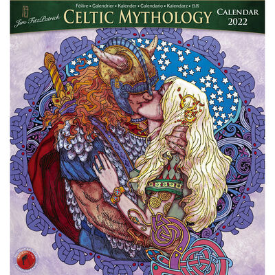 Large Celtic Mythology 2022 Calendar by Jim Fitzpatrick