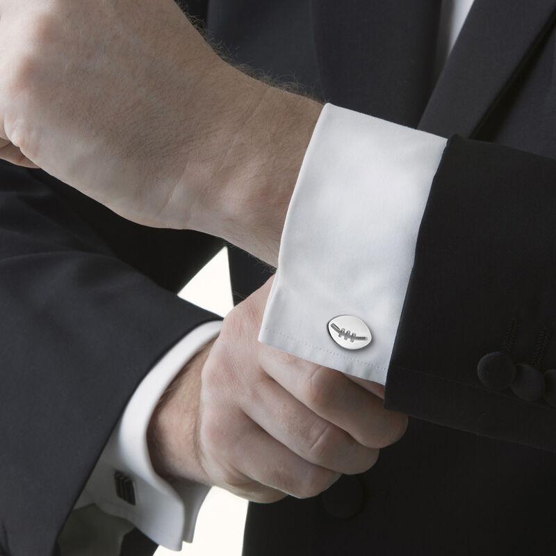 Newbridge Silverware Silver Plated Cufflinks With Rugby Ball Design