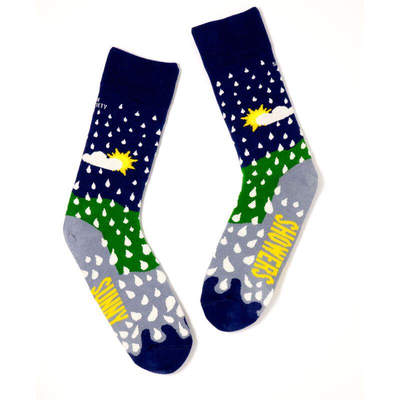 Irish Socksciety Sunny Spells Socks - Navy & Green Colour With White Droplets