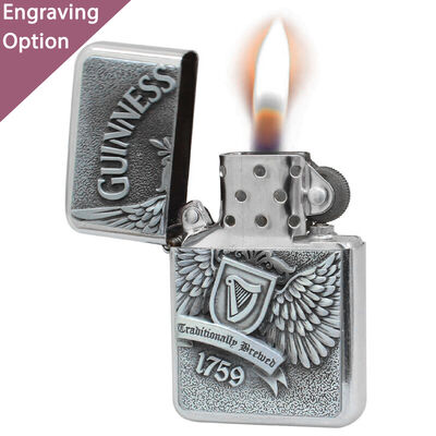 Guinness Wind-Proof Embossed Wings Oil Lighter