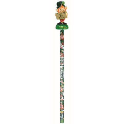 McMurfy Luck O' The Irish Leprechaun Designed Pencil With Charm