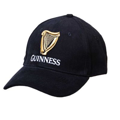 Guinness Baseball Cap With Official Logo  Black Colour