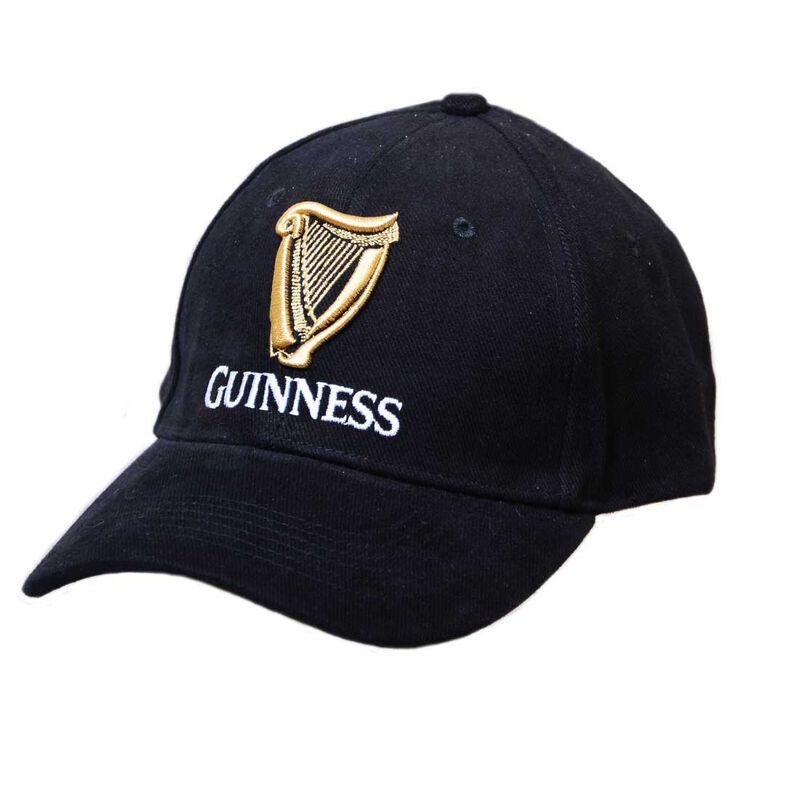 Guinness Baseball Cap With Official Logo  Black Colour