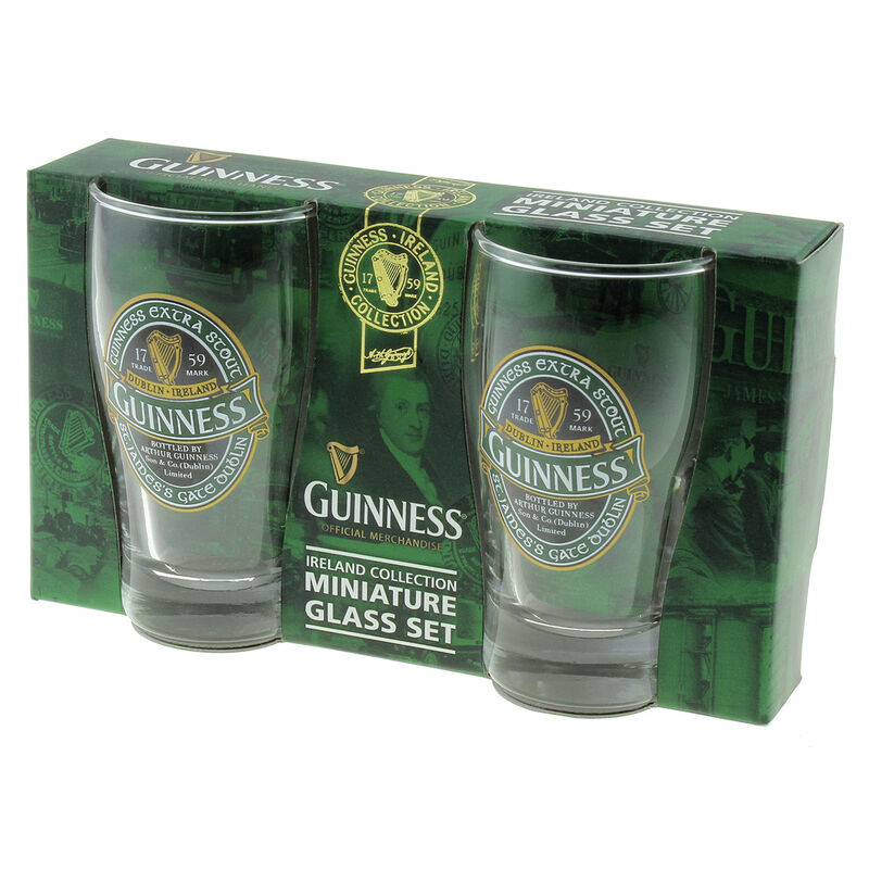 Mini Pint Glass 2 Pack with St. James Gate Label - Guinness Ireland Collection