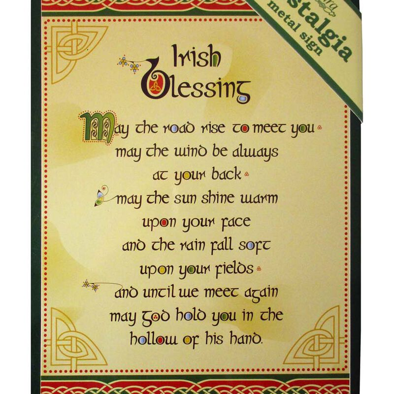 Irish Blessing Nostalgia Metal A5 Sign With Celtic Design