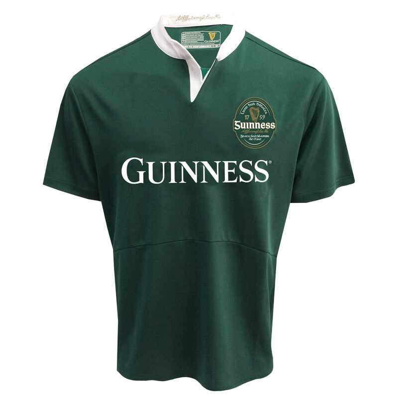 Guinness Short Sleeve Performance Jersey  Bottle Green Colour