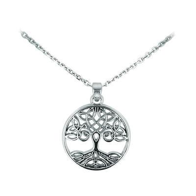 Versilberter Celtic Collection-Anhänger mit keltischem Baum des Lebens