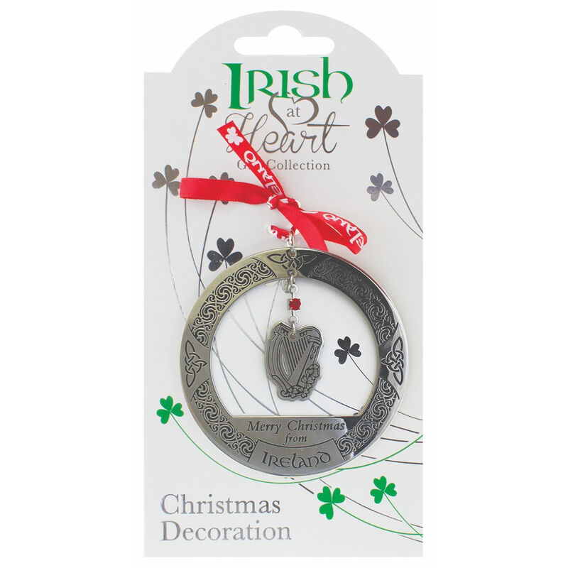 Irish Heritage Christmas Decoration Harp