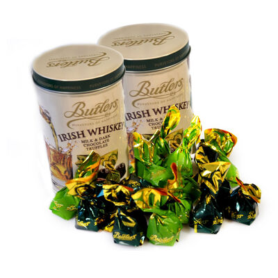 CLEARANCE - Butlers Irish Whiskey Milk & Dark Chocolate Truffles Selection, 160G ( Two Pack)
