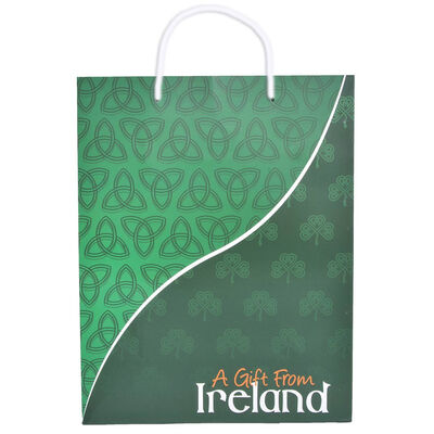 A Gift From Ireland Gift Bag With Celtic Shamrock And Trinity Knot Design