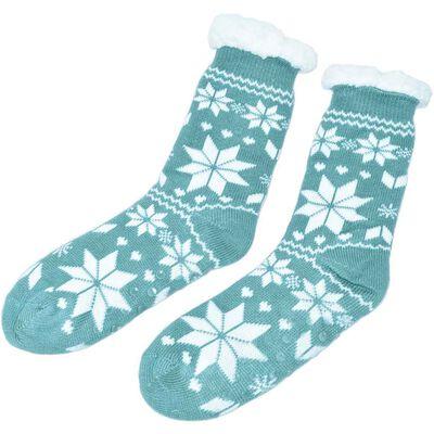 Super Soft Non-Slip Ireland One Size Slipper Socks  Green Colour