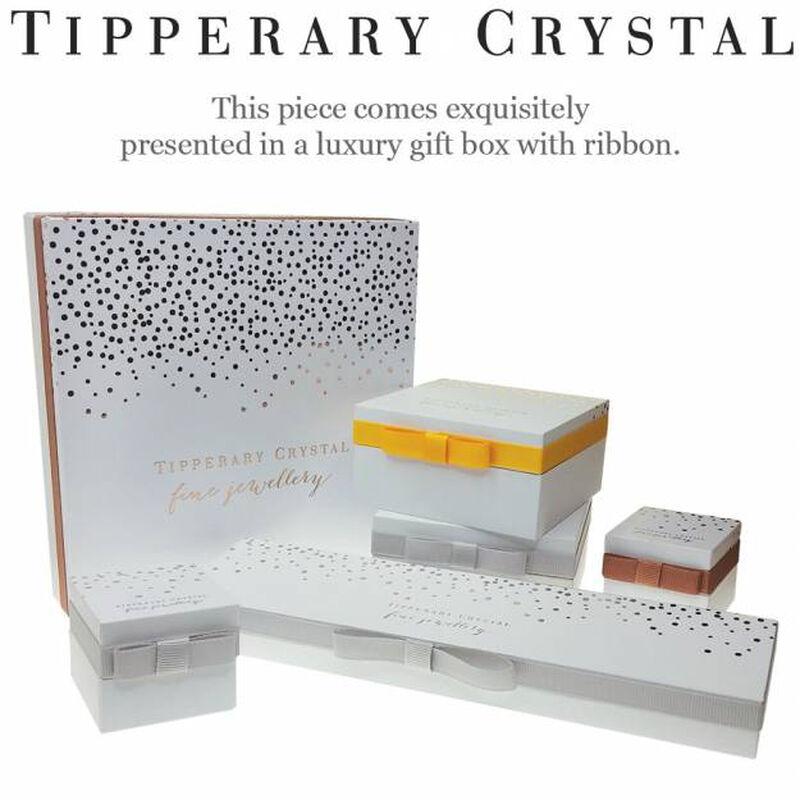 Tipperary Crystal February Silver Square Amethyst Crystal Birthstone Earrings