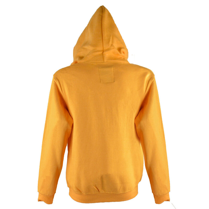 Pullover Hoodie With Dublin Ireland Est 988 Stars Print  Mustard Colour