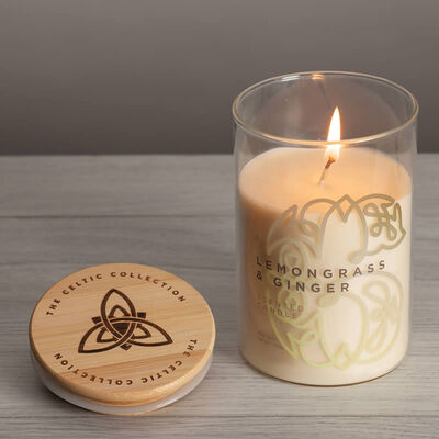 Celtic Collection Lemongrass & Ginger Scented Candle In A Glass Container