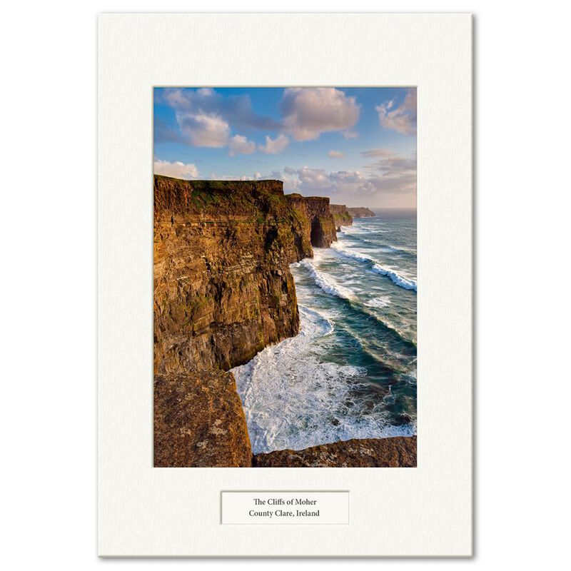 Visions Of Ireland Mounted Prints – The Cliffs Of Moher  County Clare