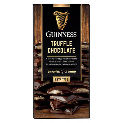 Guinness Dark Chocolate Truffle Bar  90G