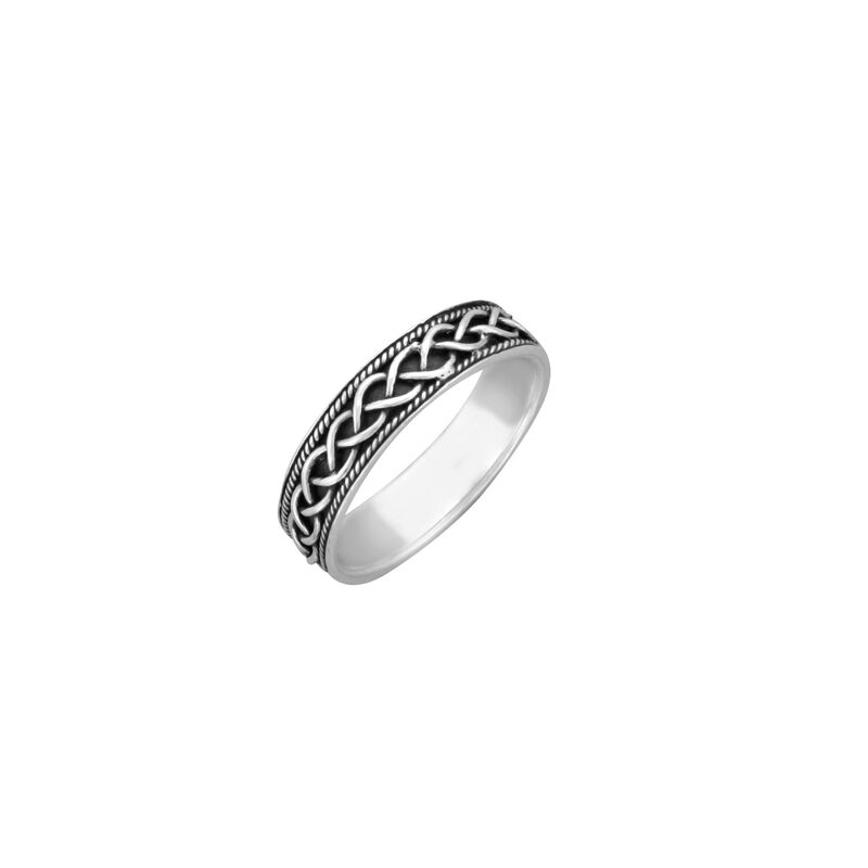 Hallmarked Sterling Silver Celtic Plait Ring  Presented In A Box