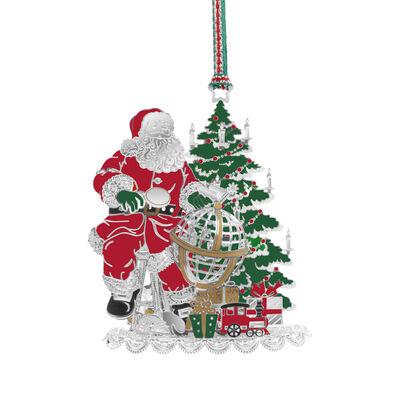 Newbridge Silverware Santa and Globe Hanging Decoration