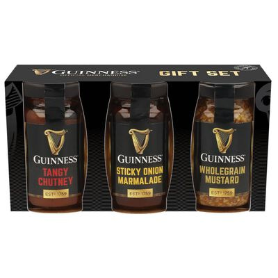 Guinness Chutney  Onion Marmalade And Mustard Sauces  3-Pack