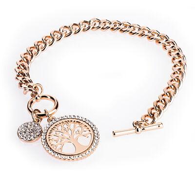 Newgrange Living Rose Gold Tree of Life Toggle Bracelet