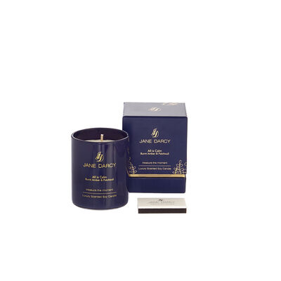 Jane Darcy All Is Calm Candle Burnt Amber & Patchouli, 200gm
