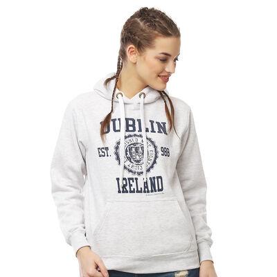 Pullover Hoodie mit Dublin Irland Varsity Stil Druck