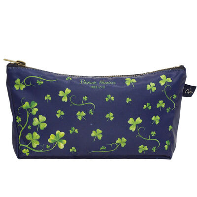 Patrick Francis Navy Colour Beautiful Cosmetic Bag With Shamrock Design