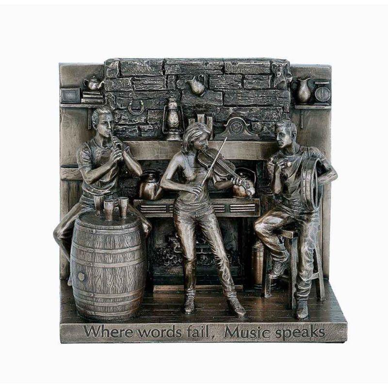 """6"""" x 7"""" The Session Bronze Statue"""