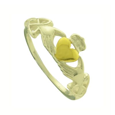 Claddagh Designed Ring  Comes With Gift Box
