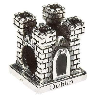Perlen-Anhänger Dublin Castle  gepunztes Sterlingsilber