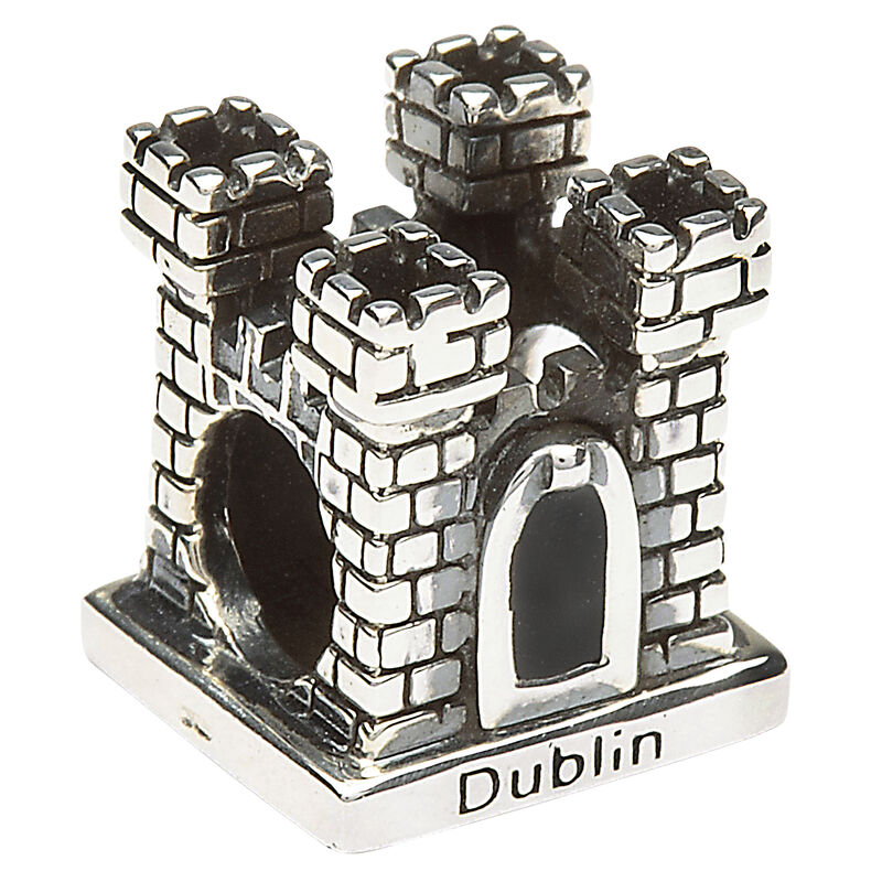 Hallmarked Sterling Silver Dublin Castle Bead Charm