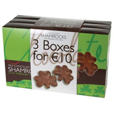 Milchschokolade Shamrocks 3er Pack