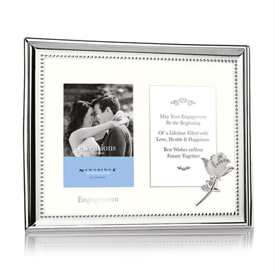 """Newbridge Silverware Silver Plated Engagement Double Picture Frame 3""""x4"""""""