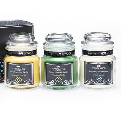 Newgrange Living Luxury Candle Jars, Set of 3