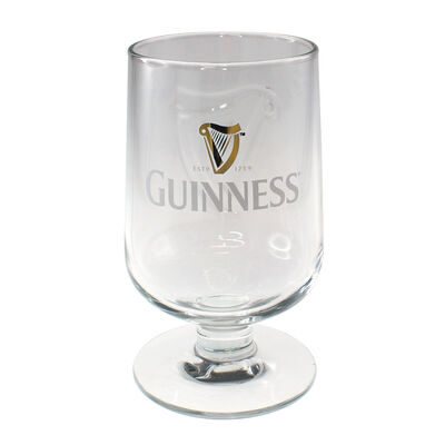 Guinness Embossed Stem Glass (Optional Gift Box)