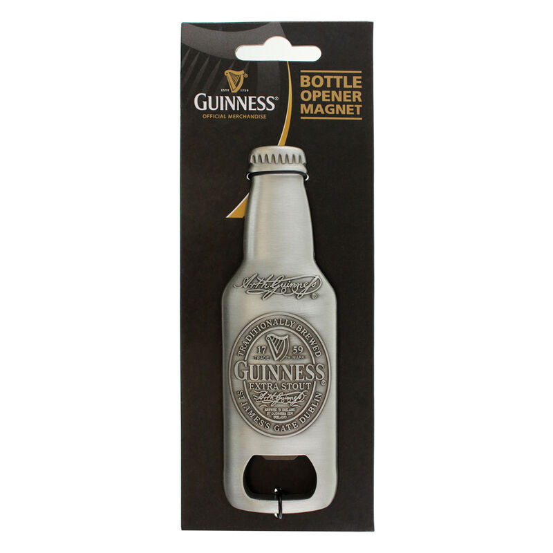 Guinness - 3D Bottle Shape Bottle Opener Souvenir Refrigerator Magnet