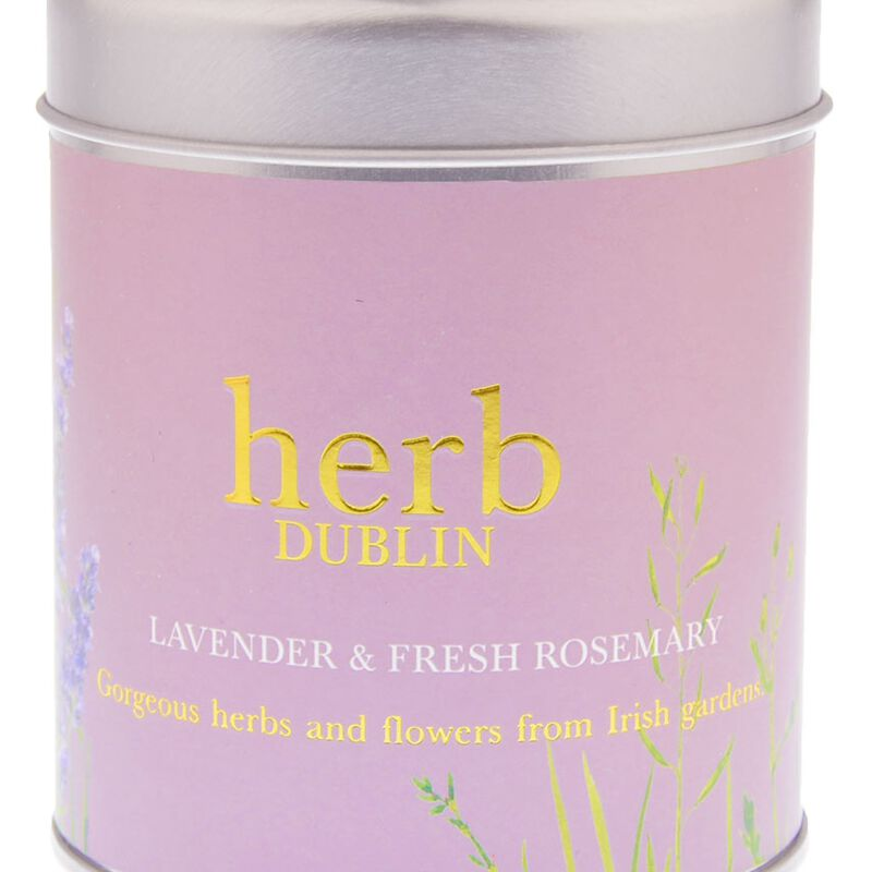 Lavender And Fresh Rosemary 35 Hour Soy Wax Candle From Herb Dublin  180g