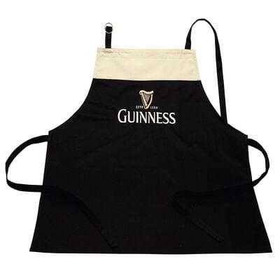 Guinness-Schürze im Stil von einem Bierglas  100 % Baumwolle mit verstellbarem Trageriemen
