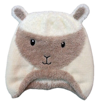 Patrick Francis Designed Kids Hat With Sheep Design  Cream Colour